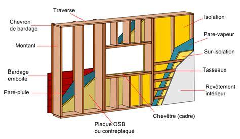 la maison a ossature bois par les schemas charpentes bardage bois maison ossature bois et charpente