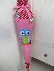 Schultüte Selber Basteln Motive : schult te motiv eule auf dem zweig in rosa rot einschulung love sewing sewing und crafts ~ Watch28wear.com Haus und Dekorationen