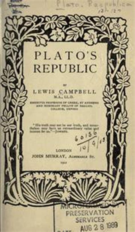 Plato's Republic (1902 Edition)  Open Library