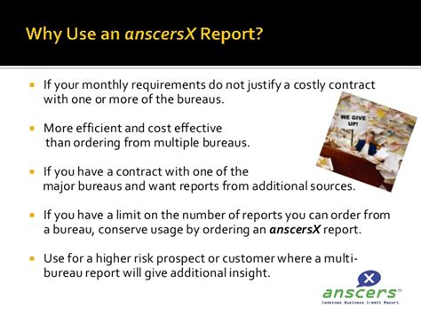 anscersx multibureau business trade credit report presentation