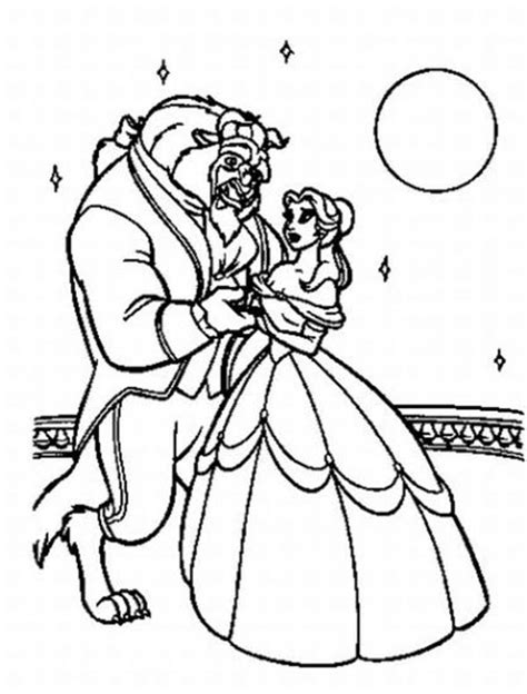 belle    dancing   moonlight coloring page