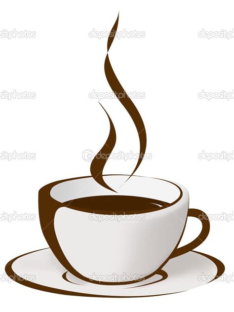 steaming cup  coffee drawing depositphotos