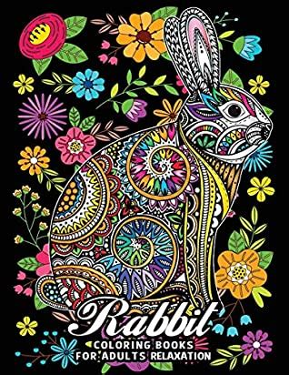 rabbit coloring books  adults relaxation fun