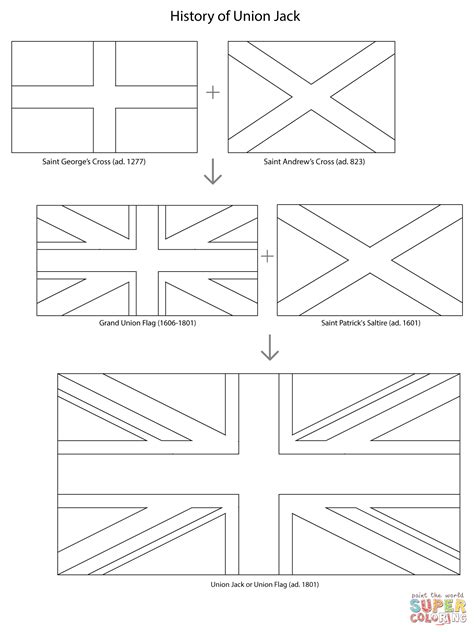 For Kid British Flag Coloring Page 46 In Pages Of Animals