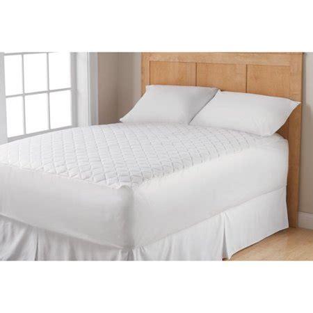mattress pad walmart mainstays waterproof mattress pad walmart