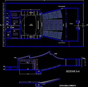 Auditorium In Autocad
