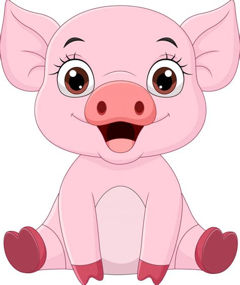 These svg images were created by modifying the images of pixabay. Cute baby pig cartoon sitting   Premium Vector