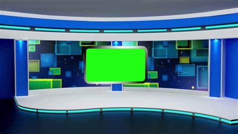 education tv studio set virtual stock footage video
