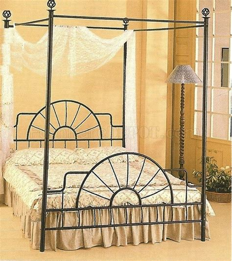 black wrought iron headboard black iron canopy bed black sunburst design size