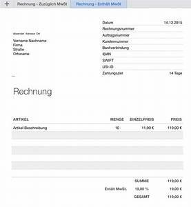Angaben Auf Rechnung : numbers vorlage rechnung ~ Themetempest.com Abrechnung