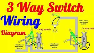 1 Gang 3 Way Light Switch Wiring Diagram : 3 way switch wiring diagrams how to install youtube ~ A.2002-acura-tl-radio.info Haus und Dekorationen
