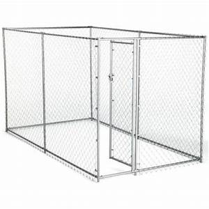 American kennel club 6 ft x 10 ft x 6 ft chain link for Dog run fence home depot