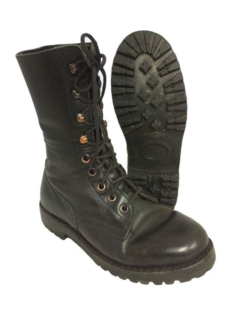 Army Semi Boot german austrian unlined vintage paratrooper boot para