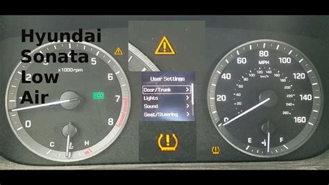 hyundai sonata exclamation point warning light youtube