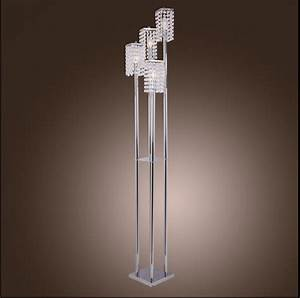 modern crystal floor lamp stainless steel led lamps cool With lamp to light whole room