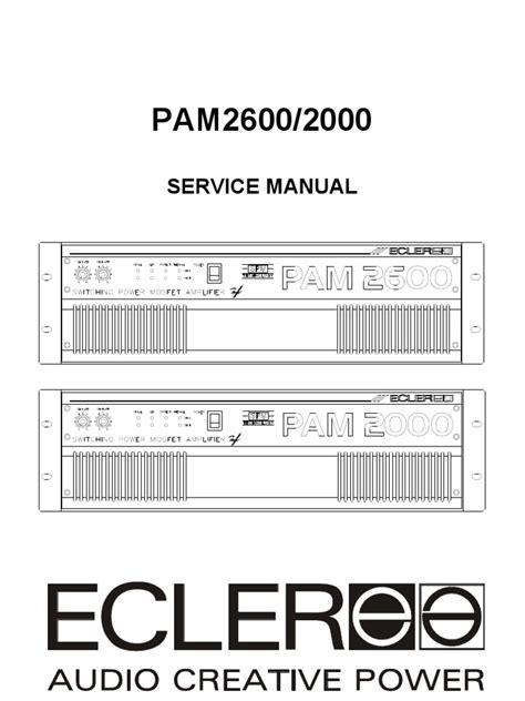 Ecler Pam Power Amplifier Service Manual