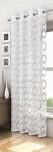 Rideau Gris Et Blanc : rideaux oeillet panneau rideau r tro argent noir ~ Dailycaller-alerts.com Idées de Décoration