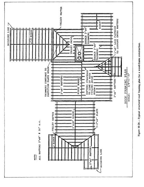 figure   typical structural roof framing plan   wood frame construction