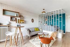Agencer Une Chambre : cloison amovible verri re coulissante c t maison ~ Zukunftsfamilie.com Idées de Décoration