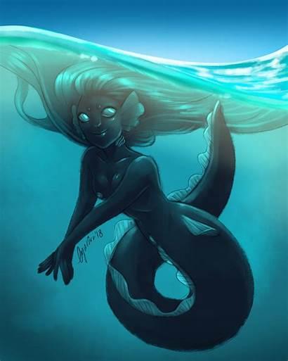 Eel Artstation Mermaid Artwork