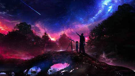 artwork, Fantasy Art, Stars, Swamp, Forest, Sky Wallpapers ...