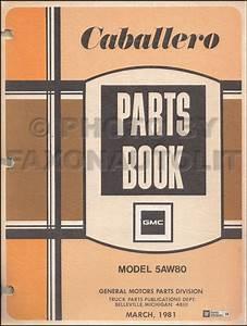 1980 Gmc Caballero Repair Shop Manual Original