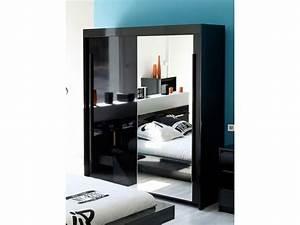 Armoire Noir Laqué : armoire chambre noire laquee ~ Teatrodelosmanantiales.com Idées de Décoration