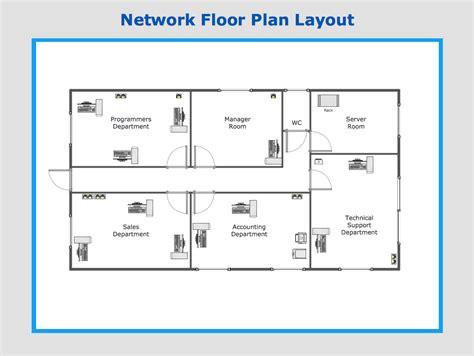 network floor plan layout conceptdraw ideas floor plan
