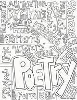 Poem Drawing Coloring Poetry Pages Getdrawings sketch template