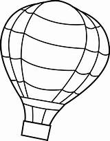 Balloon Coloring Air Pages Balloons Printable Sheets Source sketch template
