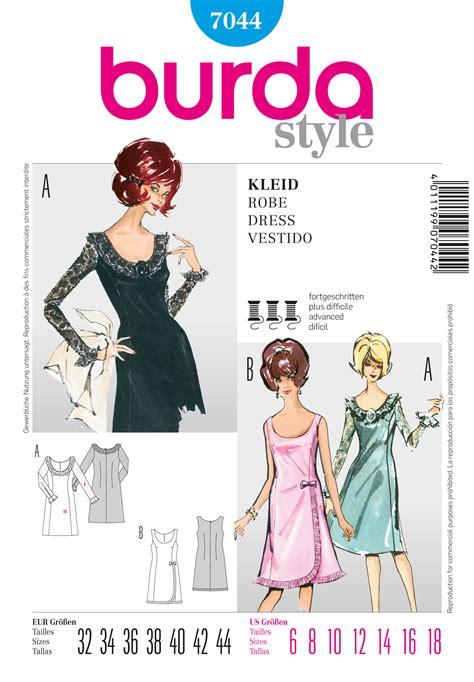 bureau style vintage burda 7044 vintage dress