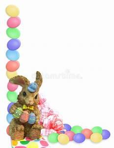 Easter Border eggs bunny stock illustration. Illustration ...