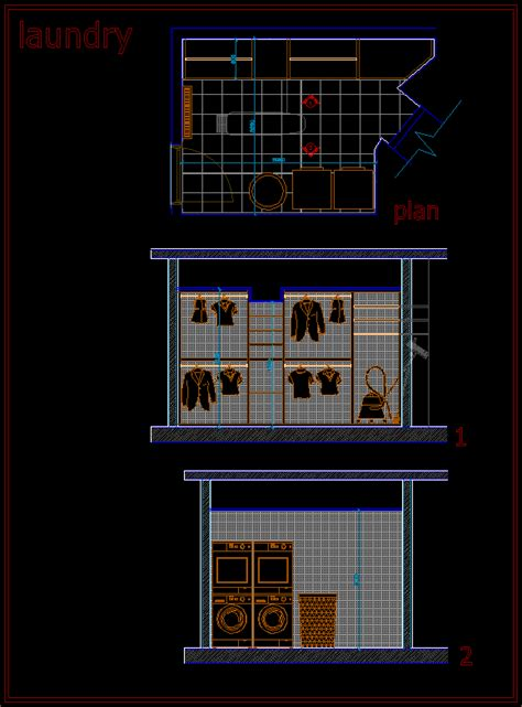 laundry room  autocad  cad   kb