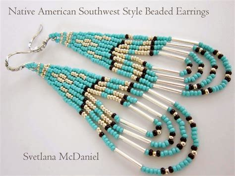 Beadsmadness Native American Style Beaded Earrings