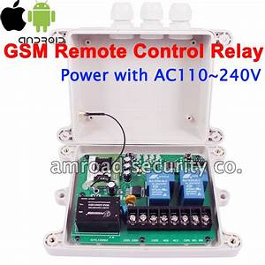 30amp 2ch Output Gsm Sms Remote Control Controller Relay