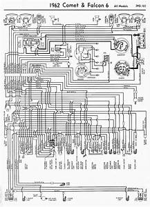 Wiring Diagram For 1962 Ford Comet And Falcon 6 All Models