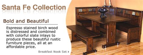 Birch Wood Slate Inlaid Furniture Pieces And Mexican Furniture