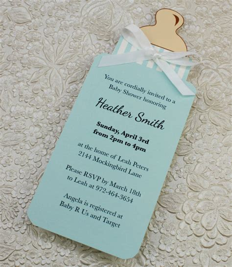 baby bottle boy shower invitation template  print