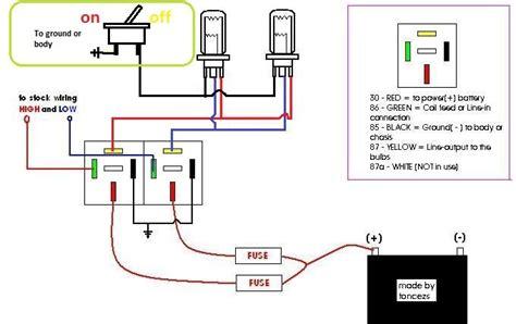 How Make Headlight Wiring Relay Kit Steps