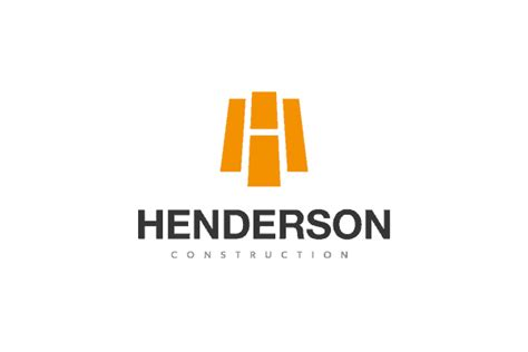 H Home Logo Design : Construction Logo Design