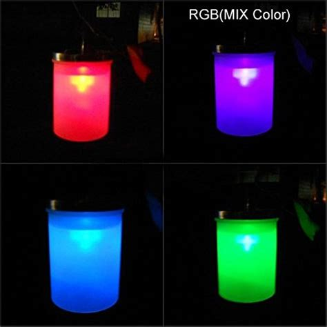 de spark color changing led solar hanging light garden
