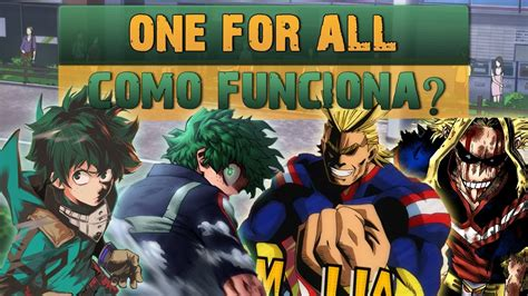 For All by One For All Como Funciona Boku No Player