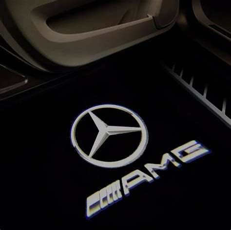 Clair sho's board mercedes benz logo, followed by 129 people on pinterest. 4 X Car Door Courtesy AMG LOGO PROJECTOR Puddle Light Mercedes For A45 NEW STYLE   eBay
