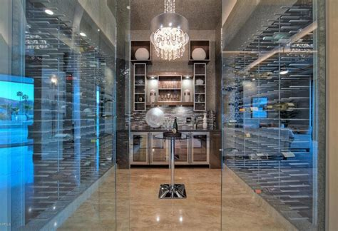 glass wine cellar  homes   rich stact wine