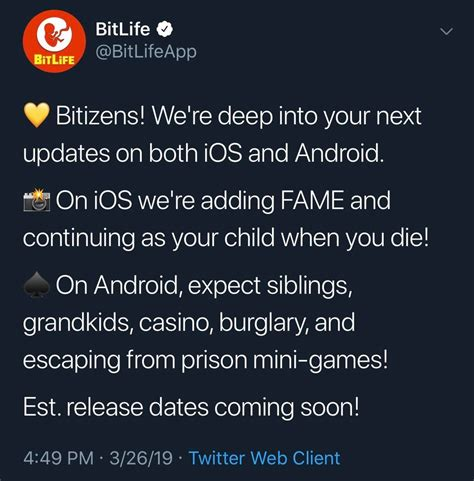 bitlife update android fame expect else everything child changes ios