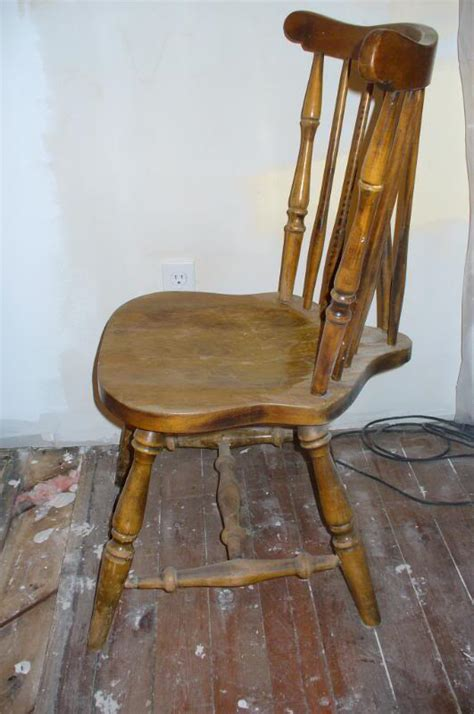 restoration ramblings  wooden kitchen chair makeover