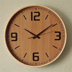 Wood wall clock modern clocks by west elm
