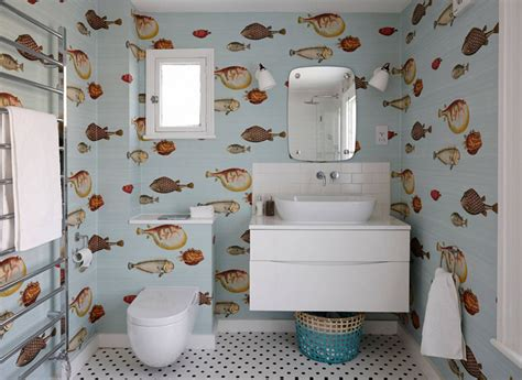 Wallpaper Ideas For Bathroom by 20 Designs Of Stylish Bathroom Wallpapers Home Design Lover