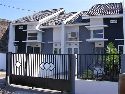 desain pagar rumah minimalis kayu  besi
