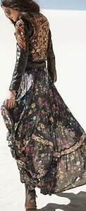 Robe Longue Style Boheme : robe longue boheme hiver gipsy boheme mode fashion ~ Dallasstarsshop.com Idées de Décoration